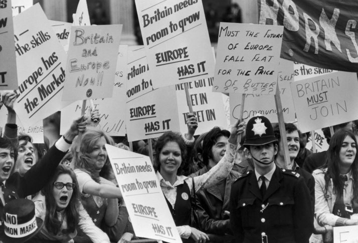 Demonstration For The Common Market, London In 1971